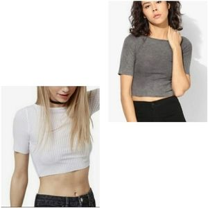 TopShop Ribbed Cropped Tops